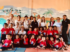 CCDO Volunteers with pre-school photo